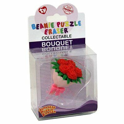 TY Iwako Puzzle Eraserz - Bouquet of Flowers - Red - 39148