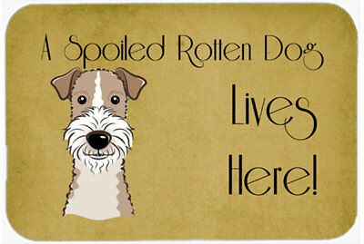 Wire Haired Fox Terrier Spoiled Dog Lives Here Kitchen/Bath Mat