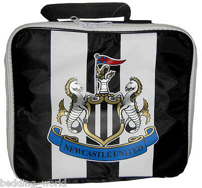 Lunch Bag Newcastle Utd Stripe Football Club Kitchen School Sandwich Black White