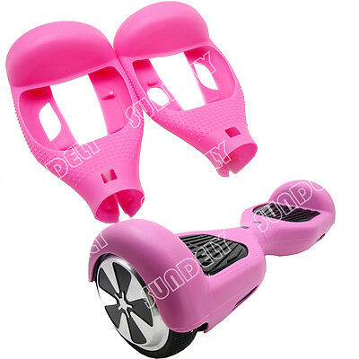 """Hi-Q Pink Silikon Cover Schutzhülle For 6.5"""" Hoverboard Balance Scooter 2 Wheels"""