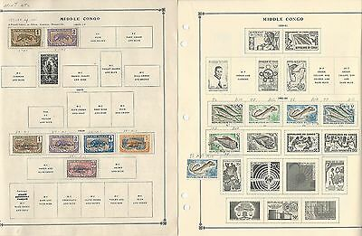 Congo & Middle Congo Collection 1892 to 1993 on Scott International Pages