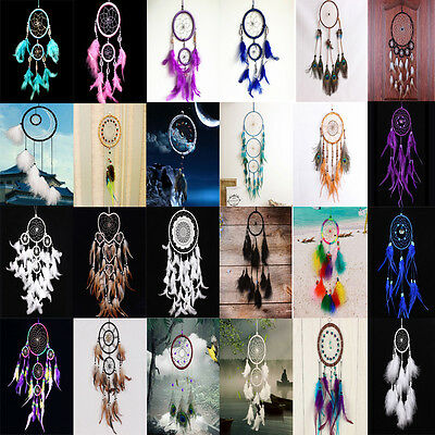 Dream Catcher Net With Feathers Hanging Home Decoration Ornament Craft Handmade