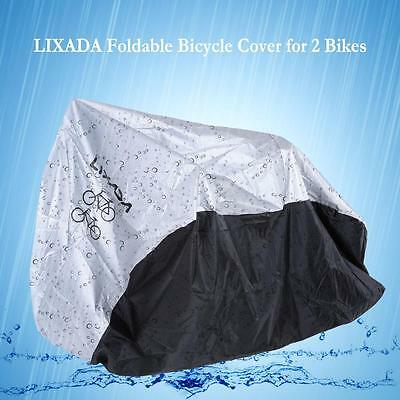Bicycle Cover Foldable Cycling Bike Cover For 2 Bikes With A Storage Bag X5A0