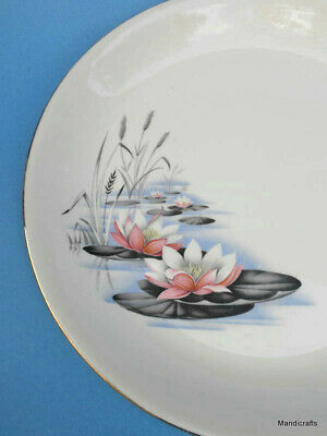Alfred Meakin Dinner Plate (s) Water Lily Pattern 10in Floral Pond 1950s MEA305