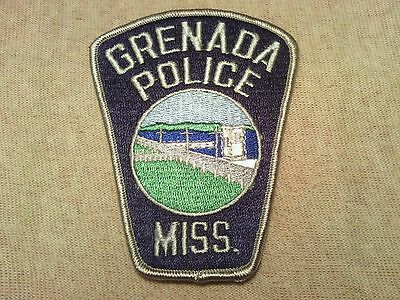 MS Grenada Mississippi Police Patch
