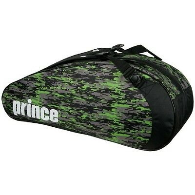 Brand New Prince Team 6 Pack Tennis Bag Black / Green 2016