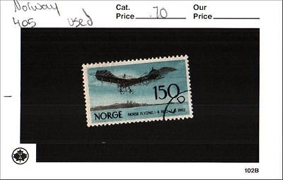 Norway Stamp Lot Scott 405 Used  Low Combined Shipping