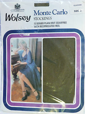 Wolsey Monte Carlo Medium Size Vintage RHT 15 Denier Stockings in three shades
