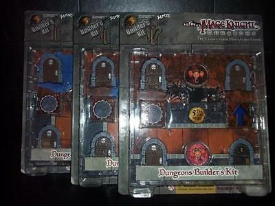 Dungeon & Dragons Mage Knight Dungeons Builders Kit D&D Tiles Complete Set of 3