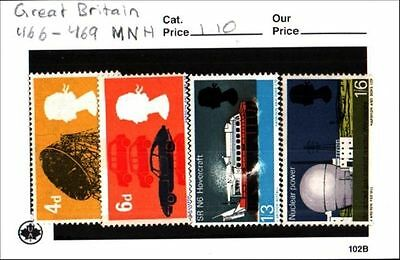 Great Britain Stamp Lot Scott 466-469 MNH Low Combined Shipping