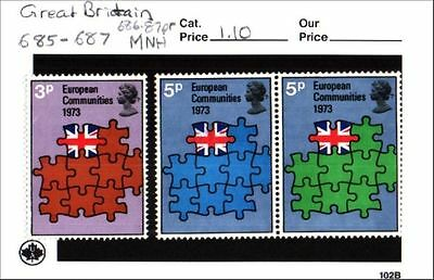 Great Britain Stamp Lot Scott 685-687 MNH Low Combined Shipping