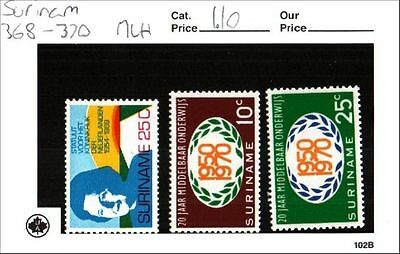 Surinam Stamps Lot Scott 368-370 MLH Low Combined Shipping