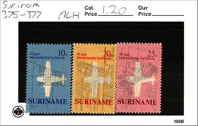 Surinam Stamps Lot Scott 375-377 MLH Low Combined Shipping