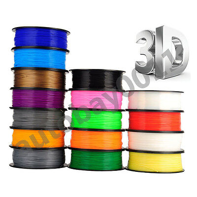 1.75mm 3D Printer Filament ABS/PLA 1kg/Roll 32 Colours Engineer Drawing Aussie