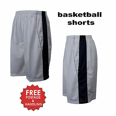 Mens basketball shorts white navy