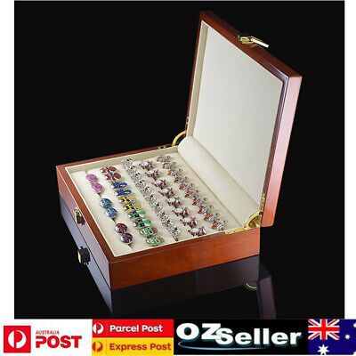 High Quality Painted Wooden Cufflinks Display Storage Box Jewelry Ring Case