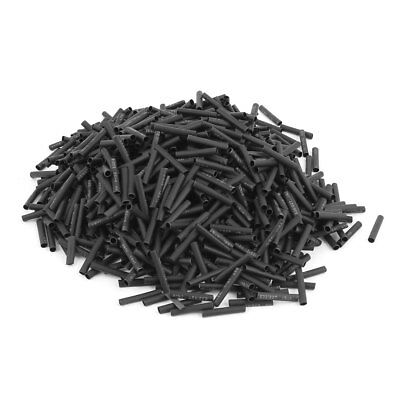Electrical Connection Cable Sleeve 20mm Length Heat Shrink Tubing Black 1000Pcs