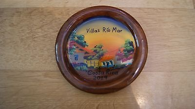 """Hand Painted Costa Rica Wooden Decorative Plate 5 """""""