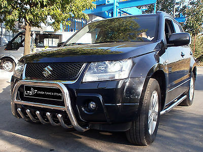 Suzuki Grand Vitara Chrome Axle Nudge A-Bar, Bull Bar 2011 - 2014
