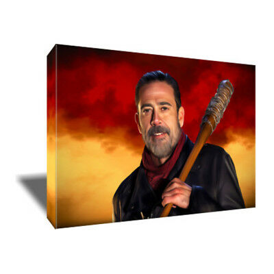 THE WALKING DEAD's NEGAN Poster Photo Painting Artwork on CANVAS Wall Art