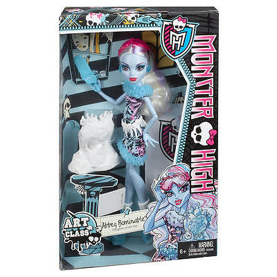 Monster High Abbey Bominable Daughter of the Yeti Art Class Original UK - New