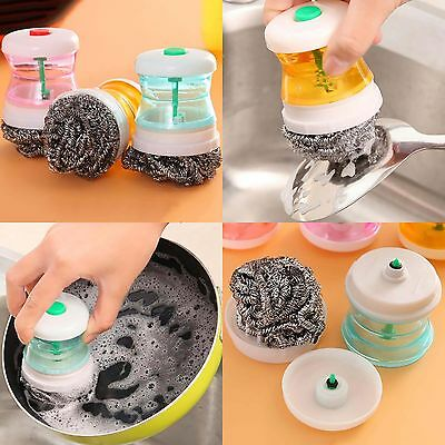 Kitchen Tool Dish Washing Cleaning Up Brushes Easy Scrubbing Liquid Detergent