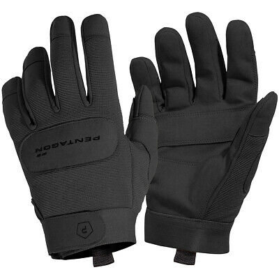 Pentagon Duty Mechanic Gloves Leather Breathable Tactical Combat Gauntlet Black