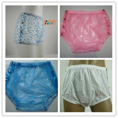 ADULT BABY PLASTIC PANTS PVC Incontinence SNAP FASTENER Ship from Sydney  M-XXL