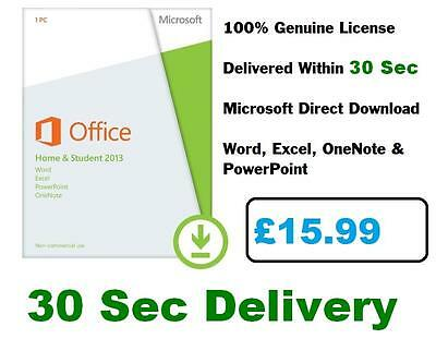 Microsoft Office Home and Student 2013 | License 1 PC | Media & Card-less