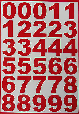 LARGE Vinyl Numbers stickers Decals weather proof RED & Blue door office home
