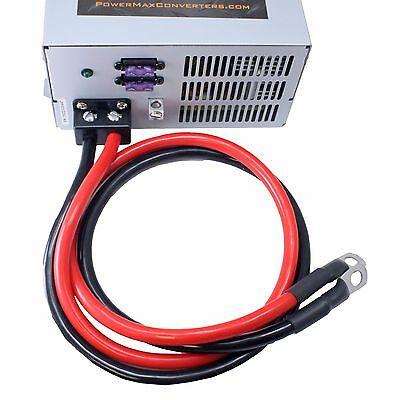 PowerMax PM3-55 RV battery charger power converter 12v 14vdc volt DC with cables