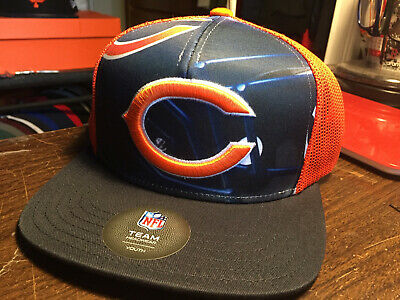 431559ea401 Chicago Bears Outerstuff NFL Youth Stealth Snapback Flat Bill Cap Hat Team  8-20