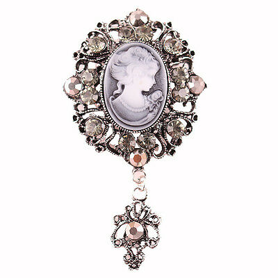 SPILLA CAMMEO 4x7CM - VINTAGE VICTORIAN CAMEO BROOCH WEDDING PARTY PIN BROACH