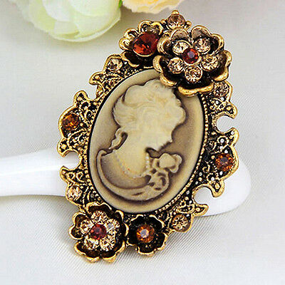 SPILLA CAMMEO 4x5CM - VINTAGE VICTORIAN CAMEO BROOCH WEDDING PARTY PIN BROACH