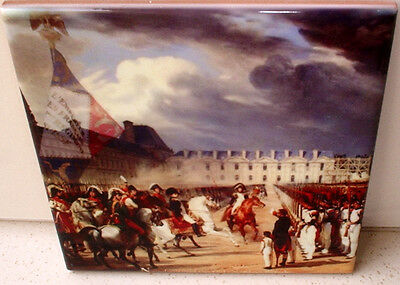 Napoleon and the Guard Parade ~Napoleonic Wars~Beautiful CERAMIC TILE