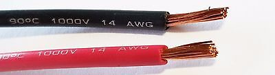 14 Gauge Wire Red & Black 25 Ft Each Primary Awg Stranded Copper Power Remote