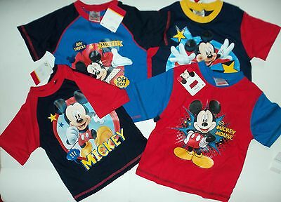 Baby Boys Cotton Pyjamas with Mickey Mouse Detail and Shorts