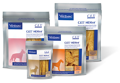 CET Premium Enzymatic Hextra Oral Hygiene Rawhide Chews for Dogs
