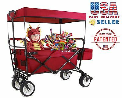 Pre-Order New Generation Upgraded All Terrain Folding Wagon With Canopy