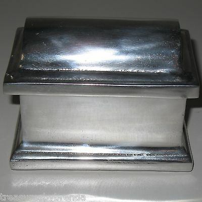 Mexican Pewter Jewellery Trinket Box