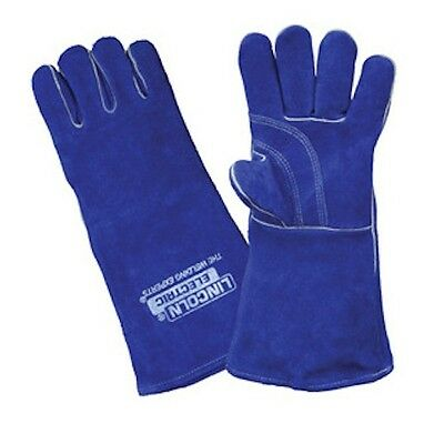 Lincoln Electric Welding Gloves Blue - Premium Leather 390mm (LA120-2)