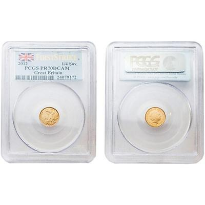 Great Britain 2012 ST George & the Dragon 1/4 Sovereign Gold PCGS PR70 DCAM