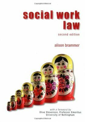 Social Work Law by Alison Brammer Paperback Book The Cheap Fast Free Post