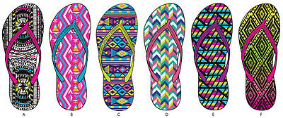 Lot of 72 Pairs Wholesale Women's Printed Flip Flops Sandals Flip Flop Sandal
