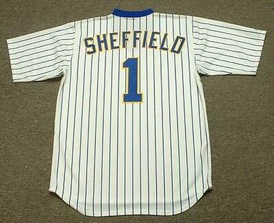 GARY SHEFFIELD Milwaukee Brewers 1988 Majestic Cooperstown Home Baseball Jersey