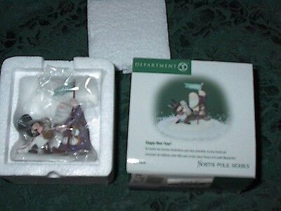 Dept 56 North Pole Series Accessory Happy New Year!-New