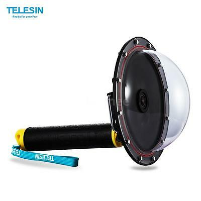 TELESIN Dome Port Underwater Diving Photography+Grip for Gopro Hero4/3+/3 I4D6