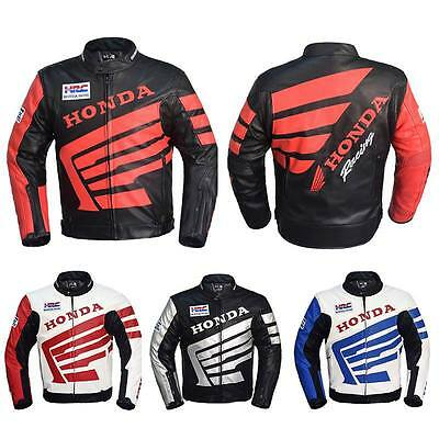 New HONDA PU LEATHER MOTORCYLE JACKET Motorcycle Racing   Jacket