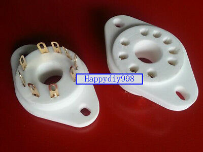 1PC 9-pin Vacuum Tube Gold plated ceramics Socket for Siemens RS1003 F3A