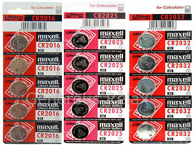 20 10 5 Maxell Battery CR2025 CR2032 CR2016Lithium 3V Cell Coin Button Batteries